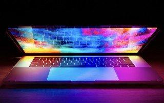 colorful laptop